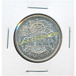 1957 Canadian Silver $1 Coin