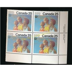 1976 Olympic Montreal 25 Cent Stamps Block Of 4
