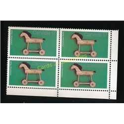 Canada Christmas 17 Cent Stamps Block Of 4