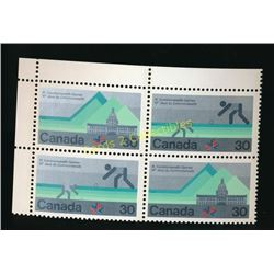 Canada Commonwealth Games 30 Cent  Block Of 4