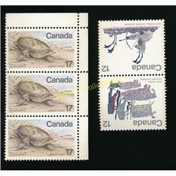 Lot of 5 Canadian Stamps Block of 2 Inuit 12 Cent