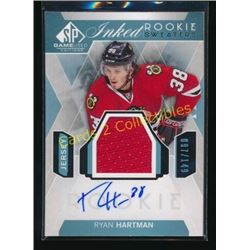 15-16 SP Game Used RC Jersey Auto Ryan Hartman