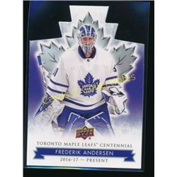 17-18 Toronto Maple Leaf Die Cut Frederik Andersen