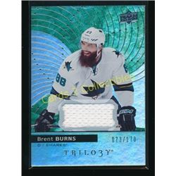 17-18 Upper Deck Trilogy Green Brent Burns Jersey
