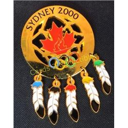 "Sydney 2000 Artistic Olympic Pin 3"" Long"