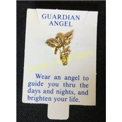 Guardian Angel Gold Tone Pin