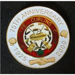 Metcalfe Curling Club 75th Anniversary Pin