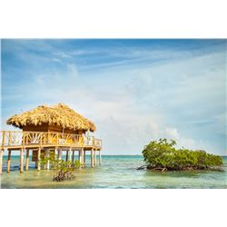 Belize Private Island Vacation For 2 in Overwater Bungalows/ Cabanas
