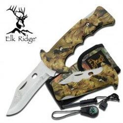 Tacttical Folding Knife With Camo Lock Back Handle