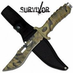 Survivor Camo Hunting Knive