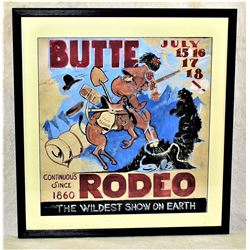 Butte Montana Rodeo Poster