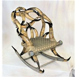 Amazing Horn Rocking Chair