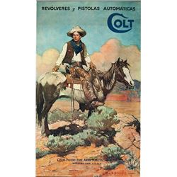 Colt Patches Advertising Poster
