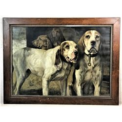Winchester Bear Dogs Lithograph