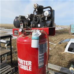 Porter Cable 60 gal 3 cyl cast up right air compressor