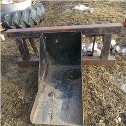 Skid steer mount shop built tree spade