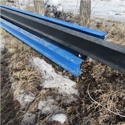 "6 - 8"" steel I beams 60ft long used for RTM house beams"
