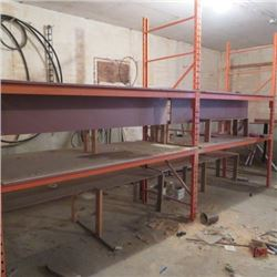 Orange commercial shelving 3 units x 8ft = 24ft