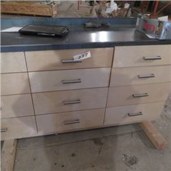 6ft work bench w/ 12 drawers, metal top two units available