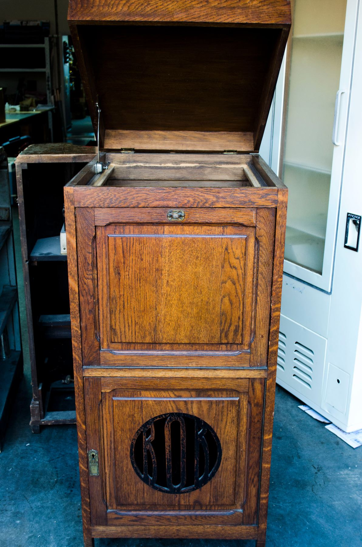 Image 2 Antique Record Player Cabinet