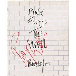 Pink Floyd: Roger Waters Signed Tour Book