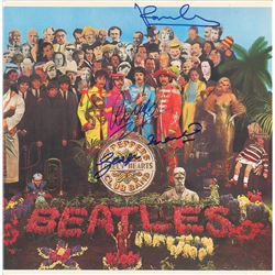 Beatles: McCartney, Starr, and Martin Signed Album