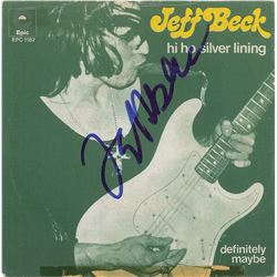 Jeff Beck Signed 45 RPM Record