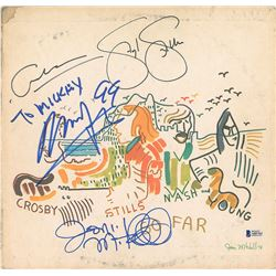 Crosby, Stills, Nash, and Joni Mitchell Signed Album