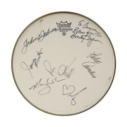 Rock and Roll Hall of Fame Inductees Signed Drum Head