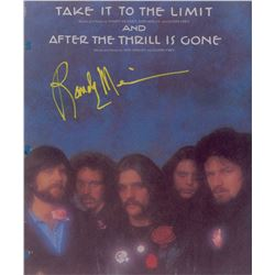 The Eagles: Randy Meisner Oversized Signed Photograph