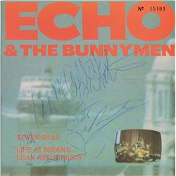Echo and the Bunnymen Signed 45 RPM Record