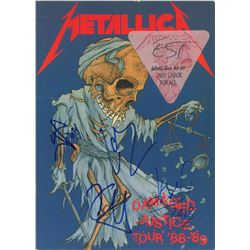 Metallica Signed Tour Book