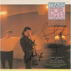 Tears for Fears Signed 45 RPM Record
