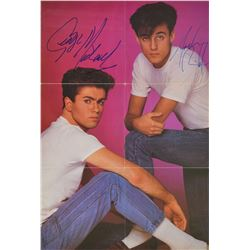 Wham! Signed 45 RPM Record