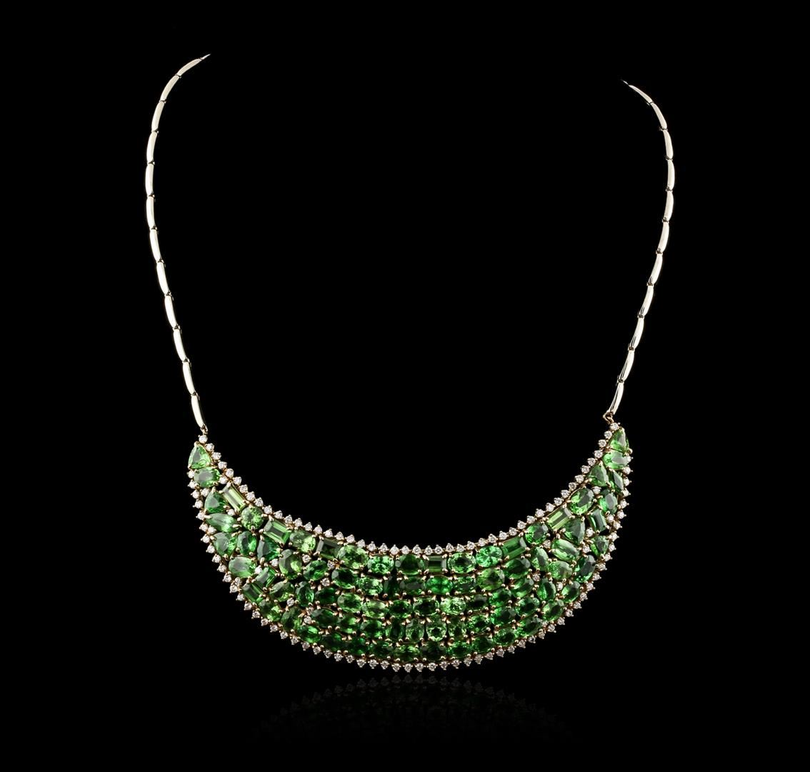 Dating party necklace tsavorite set