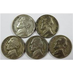 1945 Jefferson Nickels