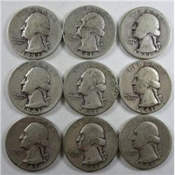 1941 Washington Quarters