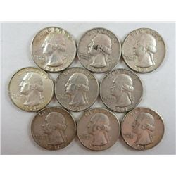 1961 Washington Quarters