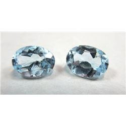 2.5 ct. Topaz Blue Matched Pair