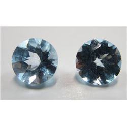2.0 ct. Topaz Blue Matched Pair
