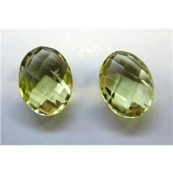 2.60 ct. Lemon Citrine  matched pair