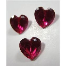 1.70 ct. Fiery Rubies rare all matched
