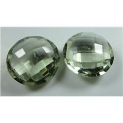 21.07 ct, Green Amethyst Matched Pair