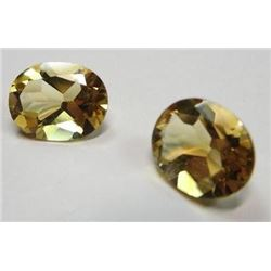 3.32 ct. Citrines  matched pair