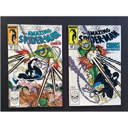 AMAZING SPIDER-MAN #298 & 299 (1988) 1ST TODD MCFARLANE ART & 1ST BRIEF APP OF VENOM - MID TO