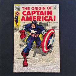 CAPTAIN AMERICA #109 (1969) ORIGIN CAP RE-TOLD/CLASSIC KIRBY COVER - MID GRADE