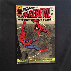 DAREDEVIL #16 (1966) 1ST JOHN ROMITA ART ON SPIDER-MAN/CLASSIC COVER - MID GRADE