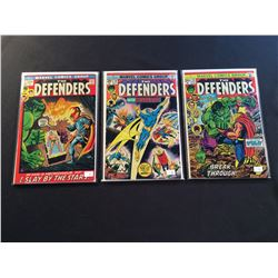 DEFENDERS #1,10 & 28 (1972-75) 1ST ISSUE + CLASSIC HULK VS. THOR BATTLE ISSUE & 1ST FULL APP