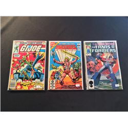MARVEL & DC 1980'S TV CARTOON #1'S X 3 ISSUES (1982-84) INCLUDES GI JOE #1 + MASTERS OF THE
