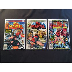 MS. MARVEL #16-18 (1978) #16 & 17 (1ST BRIEF APP MYSTIQUE)  #18  (1ST FULL APP MYSTIQUE) - HIGHER